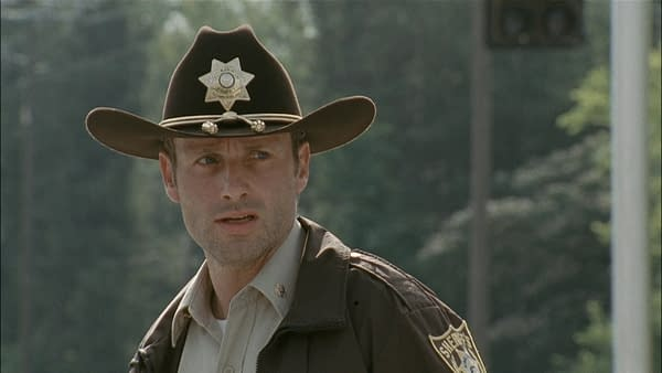 Andrew Lincoln as Rick Grimes on The Walking Dead (Image: AMC TV)