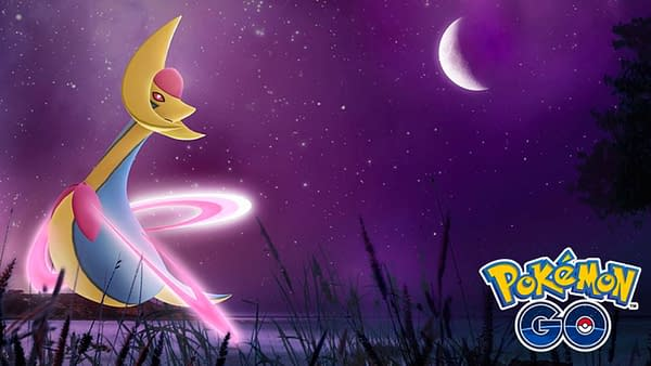 Shiny Cresselia Raid Hour is Tonight in Pokémon GO. Credit: Niantic