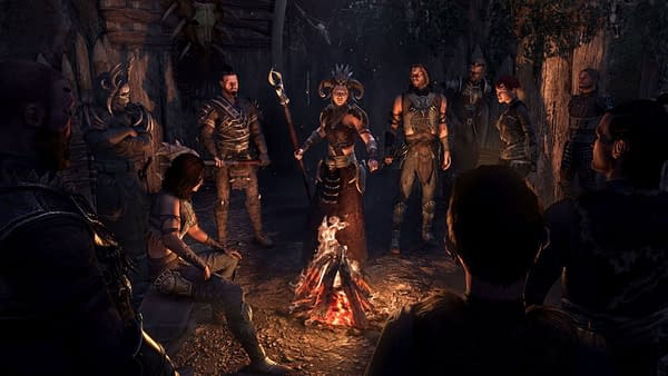 Gather 'round the fire, for there is more to come on the horizon! Courtesy of Bethesda Softworks.