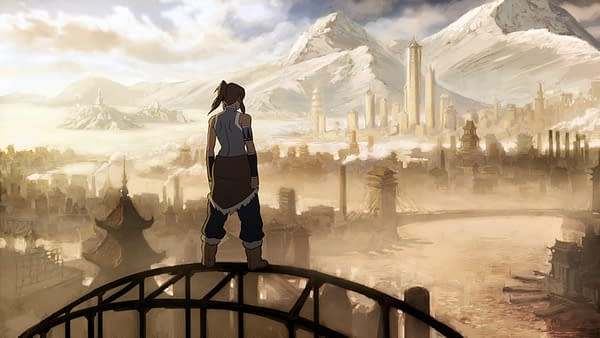 A scene from Avatar: The Legend of Korra, courtesy of Image: Viacom CBS.