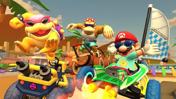 Mario and company get some fun in the sun in Los Angeles, courtesy of Nintendo.