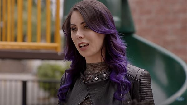 Series co-creator Michele Morrow as Ash in Good Game, courtesy of YouTube.