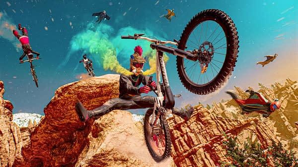 The world is a racer's playground in Riders Republic, courtesy of Ubisoft.