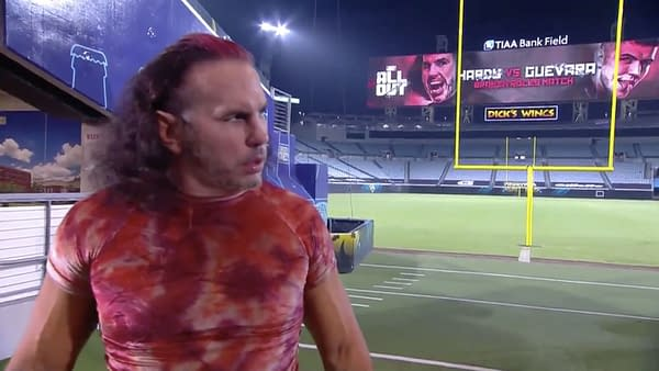 Matt Hardy, moments before nearly killing himself in the Broken Rules match at AEW All Out