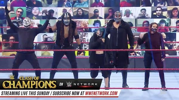 Retribution Unmasks on WWE Monday Night Raw... Sort Of