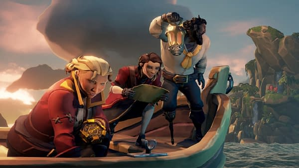 Always searching for treasure or things connected to treasure in Sea Of Thieves, courtesy of Rare.
