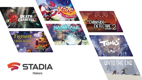A look at the seven new games coming to Stadia. Courtesy of Google.