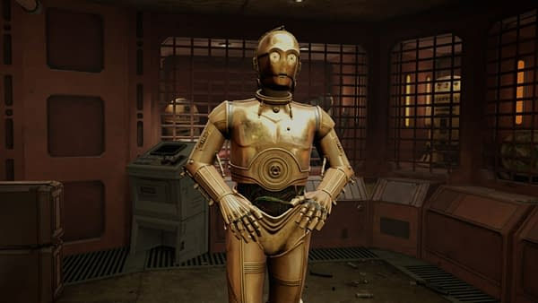 Love him or hate him, you're getting C-3PO in this VR experience. Courtesy of ILMxLAB.