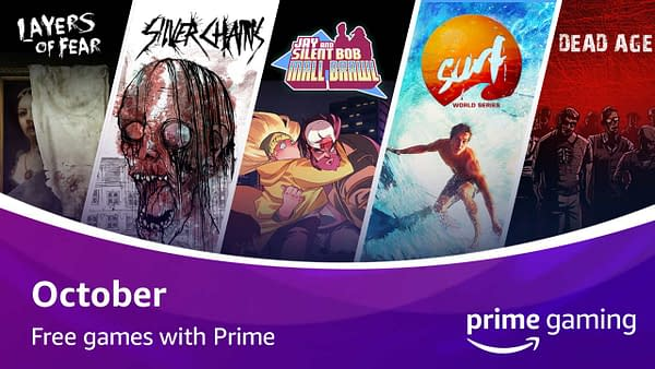 A look at the five games for Free Games With Prime in October 2020.