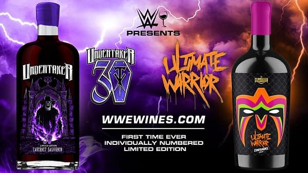 Finally, you can drink The Undertaker or The Ultimate Warrior as part of the new WWE Wines collection!