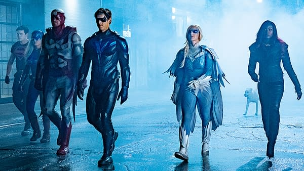 "Titans -- Ep. 213 -- ""Nightwing"" -- Photo Credit: Brooke Palmer / 2019 Warner Bros. Entertainment Inc. All Rights Reserved."