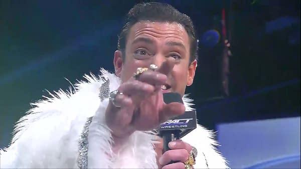 Aron Stevens appears as Aron Rex in Impact Wrestling