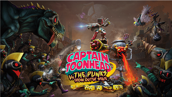 Fight your way through the insane monsters of Captain Toonhead Vs The Punks From Outer Space, courtesy of Teravision Games.