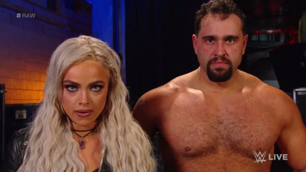 Does this look like the face of a man who can't get it up? Okay, bad example. [Liv Morgan and Miro on WWE Raw]