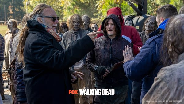 """The Walking Dead offers a look behind the scenes at Season 10 Episode 16 """"A Certain Doom"""" (Image: AMC/FOX)"""