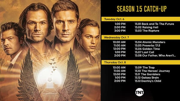 Supernatural: TNT Releases Season 15 Mini-Marathon Catch-Up Calendar