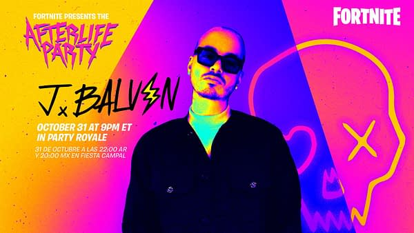 Catch J Balvin on Halloween night for a special show, courtesy of Epic Games.