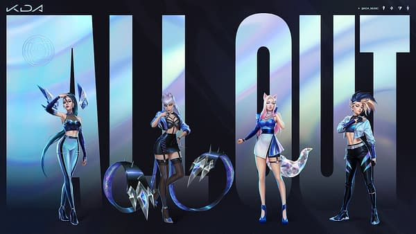 A look at the promo art for K/DA's All Out, courtesy of Riot Games.
