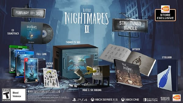 """A look at the Little Nightmares 2 """"Stay Turned"""" Bundle, courtesy of Bandai Namco."""