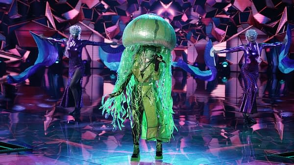 THE MASKED SINGER: Jellyfish in the ÒThe Group C Premiere - Masked But Not LeastÓ episode of THE MASKED SINGER airing Wednesday, Oct. 28 (8:00-9:00 PM ET/PT) on FOX. © 2020 FOX MEDIA LLC. CR: Michael Becker/FOX.