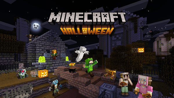 Trick or treat has a completely different meaning in Minecraft. Courtesy of Mojang.