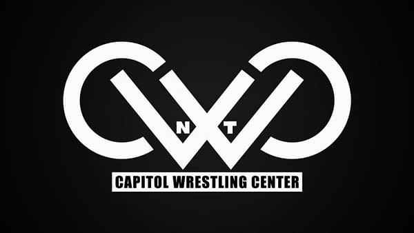 The logo for the COVID Wrestling Center, the new home of WWE's NXT Brand.