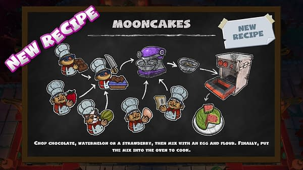 A look at the new Overcooked 2 recipe for Mooncakes, courtesy of Team17.