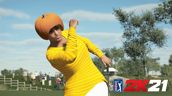 You know what says Halloween? Wearing a pumpkin on your head. Courtesy of 2K Games.