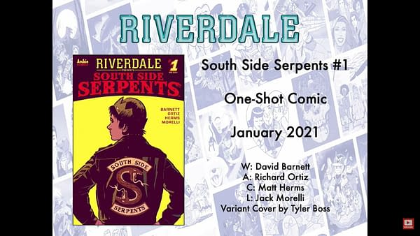 South Side Serpents #1 From Archie Comics in January