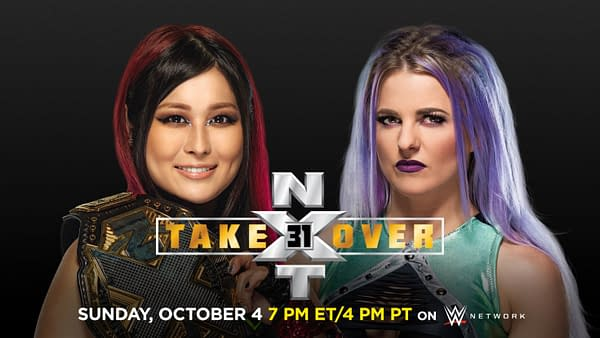 Io Shirai defends the NXT Women's Championship against Candice LeRae at NXT Takeover 31
