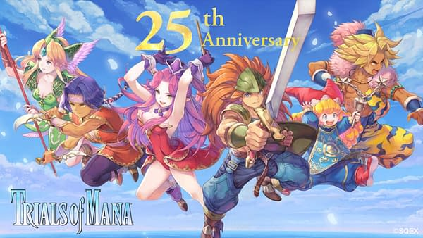 Celebrate the 25th Anniversary of Trials Of Mana with these fun additions. Courtesy of Square Enix.