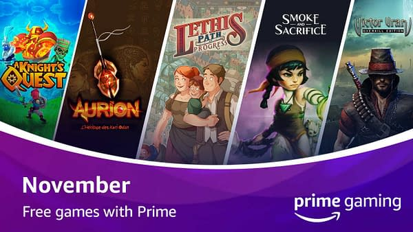 A look at the free games with Prime Gaming for November 2020, courtesy of Twitch.