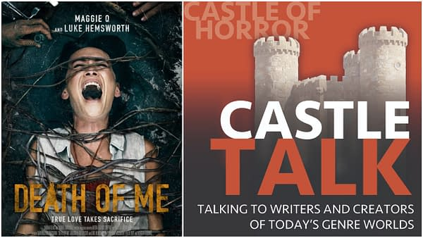 Death of Me poster and Castle Talk logo used by permission