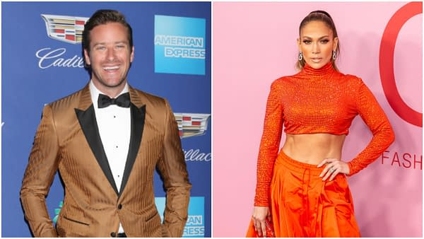 L-R: Armie Hammer at the 2018 Palm Springs International Film Festival Gala at Convention Center on January 2, 2018 in Palm Springs, CA. Editorial credit: Kathy Hutchins / Shutterstock.com | Jennifer Lopez attends 2019 CFDA Fashion Awards at Brooklyn Museum. Editorial credit: Ovidiu Hrubaru / Shutterstock.com