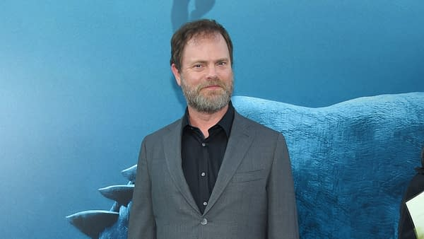 """Rainn Wilson arrives to the """"The Meg"""" US Premiere on August 6, 2018 in Hollywood, CA. Editorial credit: DFree / Shutterstock.com"""