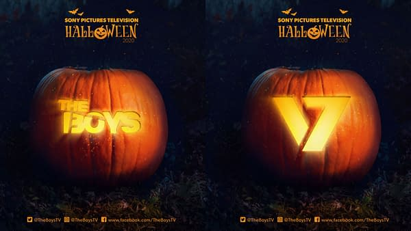The Boys and other shows are getting pumpkin carving stencils courtesy of Sony Pictures TV (Image: SPTV)