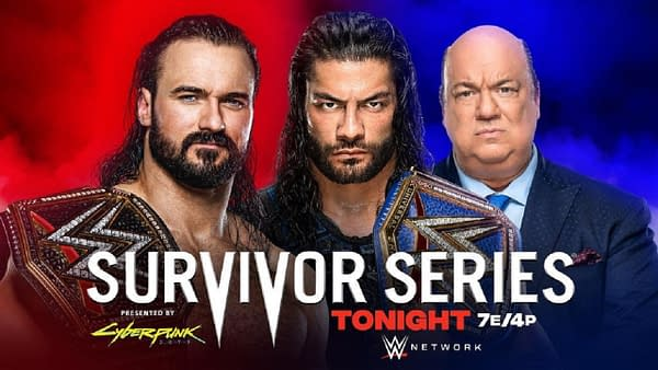 WWE Survivor Series ket art for Sunday night's PPV (Image: WWE)