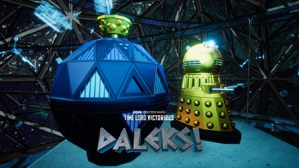 "Doctor Who ""Time Lord Victorious"" spinoff series Daleks! key art for episode 3. (Image: BBC)"
