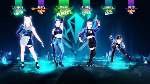 A look at the fierce foursome taking the stage in Just Dance 2021, courtesy of Ubisoft.