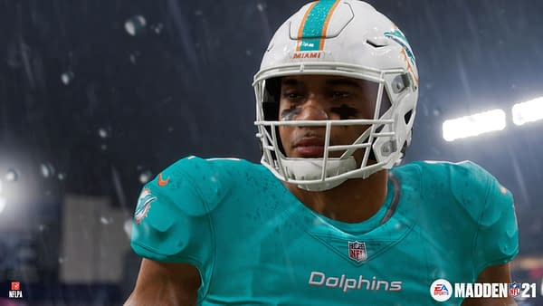 Play as Tua Tagovailoa for the Miami Dolphins, or whatever team you like on Madden NFL 21. Courtesy of EA Sports.