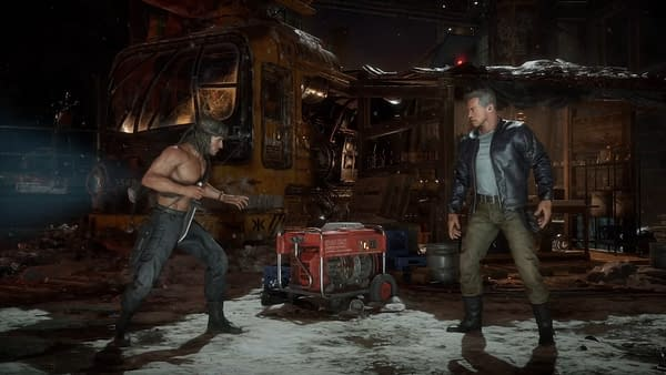 Man vs. Machine, the ultimate fight still going on to this day. Courtesy of NetherRealm Studios.