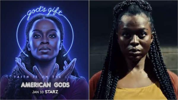 American Gods spotlights Bilquis' season 3 journey (Image: STARZ).