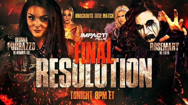 IMPACT! Wrestling Final Resolution PPV key art (Image: IMPACT! Wrestling)