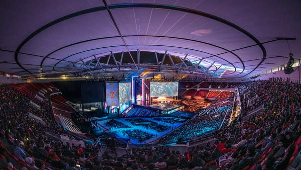 League of Legends 2020 Worlds Finals, photo by Hugo Hu, courtesy of Riot Games.