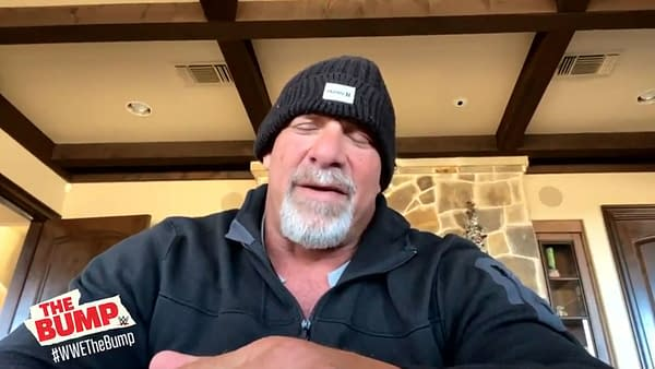 Goldberg wants a piece of Roman Reigns... but he has to stop pooping first.