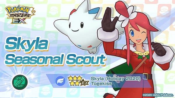 Skyla in Pokémon Masters EX. Credit: DeNA