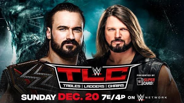 Drew McIntyre defends the WWE Championship against AJ Styles at WWE TLC