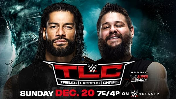 Roman Reigns defends the Universal Championship against Kevin Owens at WWE TLC