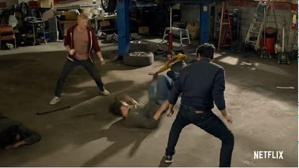 Cobra Kai released its season 3 trailer (Image: Netflix screencap)