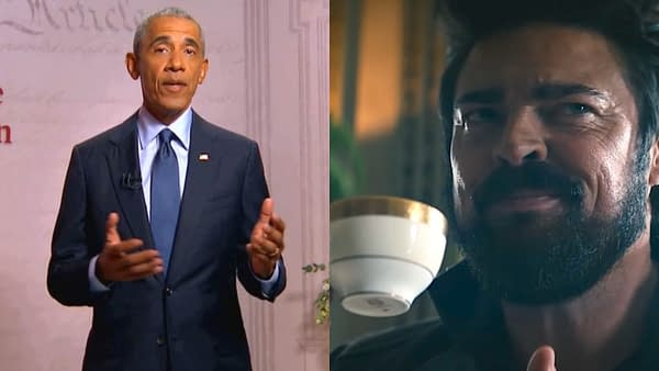 The Boys is one show President Obama liked to watch in-between writing. (Images: NBC/Amazon Prime screencaps)